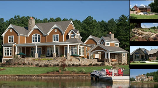 Beautiful landscaping for lakefront properties on lake for Beautiful homes and great estates pictures