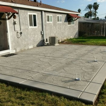 Photo of Delgado's Concrete Services Eastvale - Eastvale, CA, United  States. Completed patio