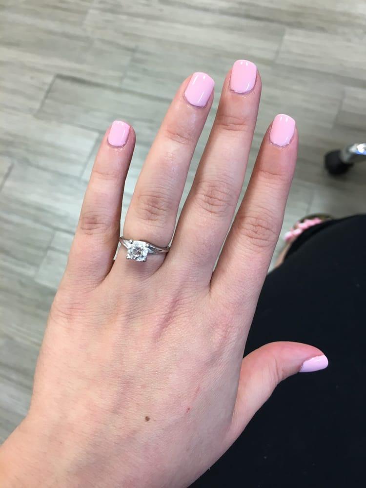 Baby pink gel mani yelp for 20 lounge nail salon