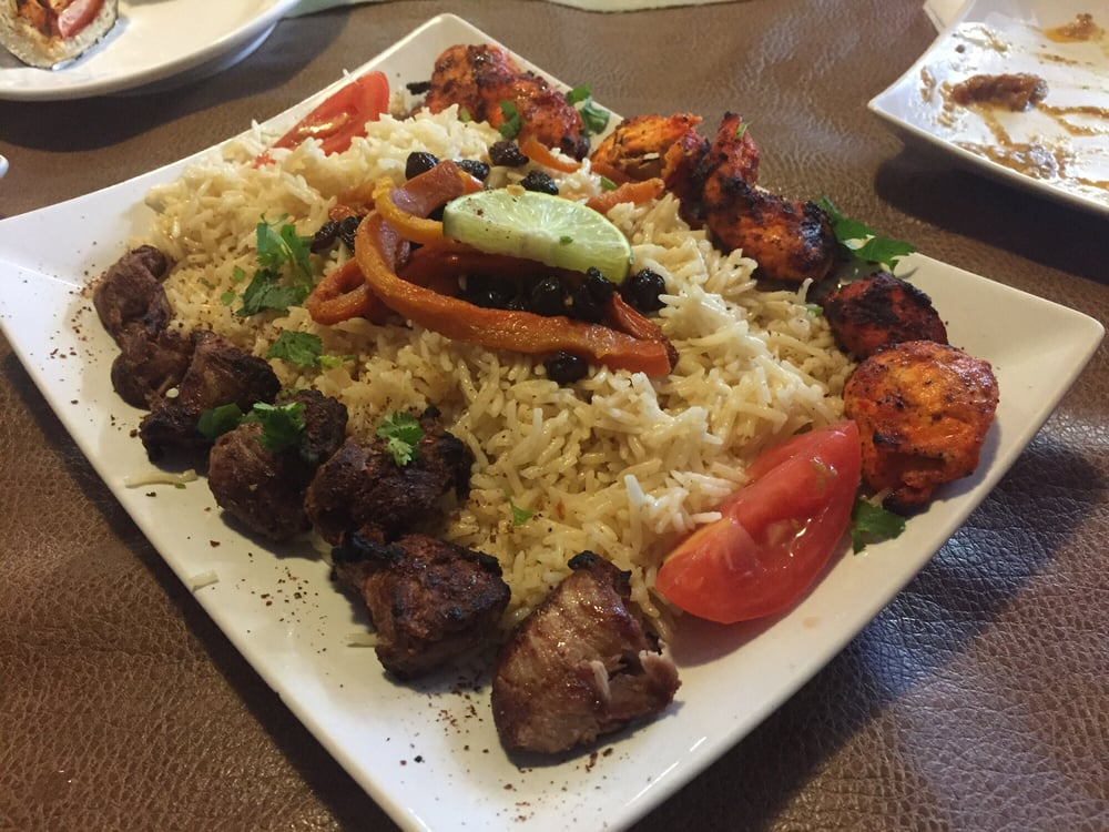 Kabob combo chicken and beef yelp for Afghan cuisine houston tx