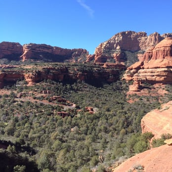 'Photo of Boynton Canyon Trail - Sedona, AZ, United States. view FROM the ruin back out the canyon' from the web at 'https://s3-media4.fl.yelpcdn.com/bphoto/ZsNfLUGZ5l8pb8xOTnFnQQ/348s.jpg'