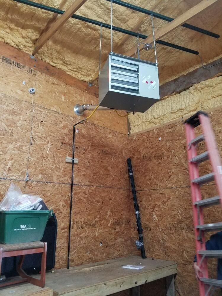 Photo Of Radiant Mechanical   Cheektowaga, NY, United States. Garage Heater  Install.