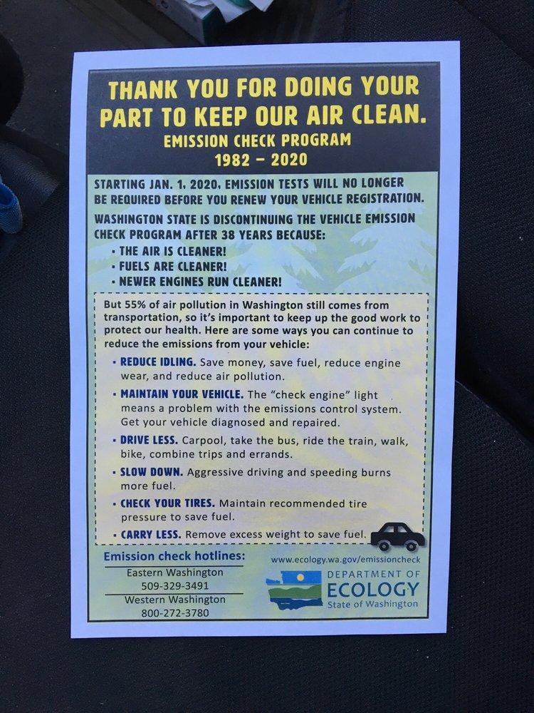 Washington State Vehicle Emission Inspection Station - 12