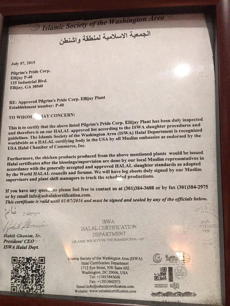 Zabiha Halal Certification Yelp