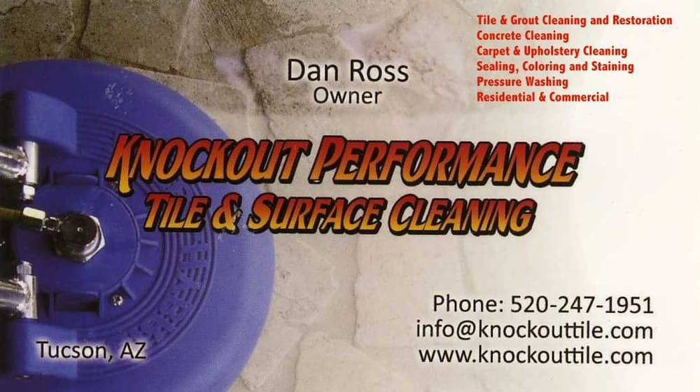 Knockout Performance Tile Surface Cleaning