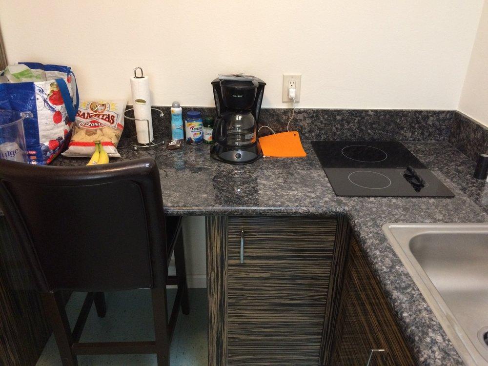 Suite Had Large Kitchen Setup With Big Fridge Duh I