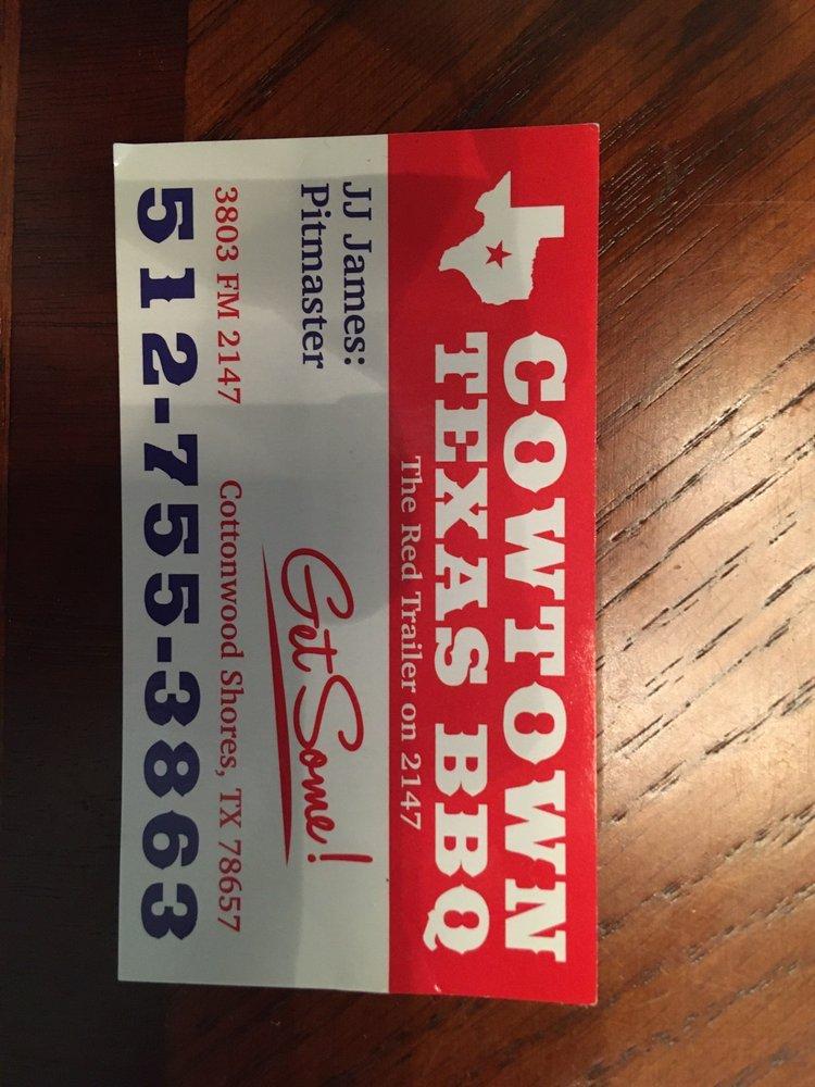 Cowtown Texas BBQ: 3803 W FM 2147, Cottonwood Shores, TX