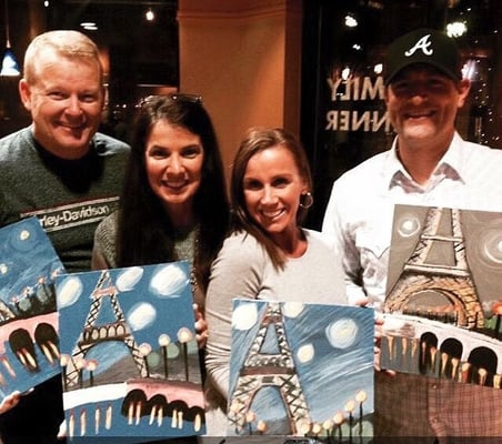 Art wine down paint sip charlotte nc united states for Sip and paint charlotte nc
