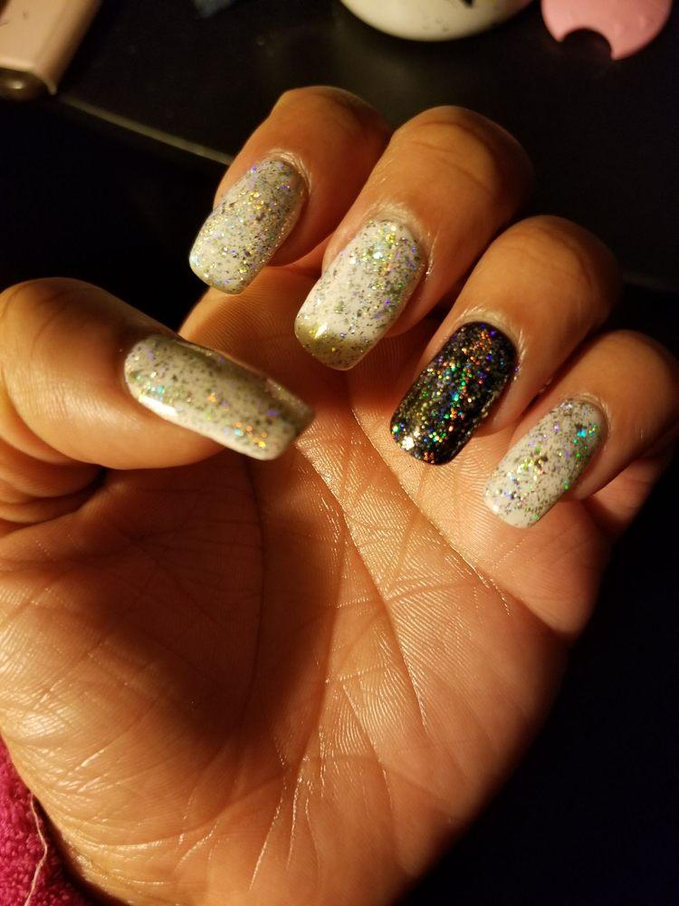 Nexgen and holographic glitter on my natural nails. I love nail maxx ...