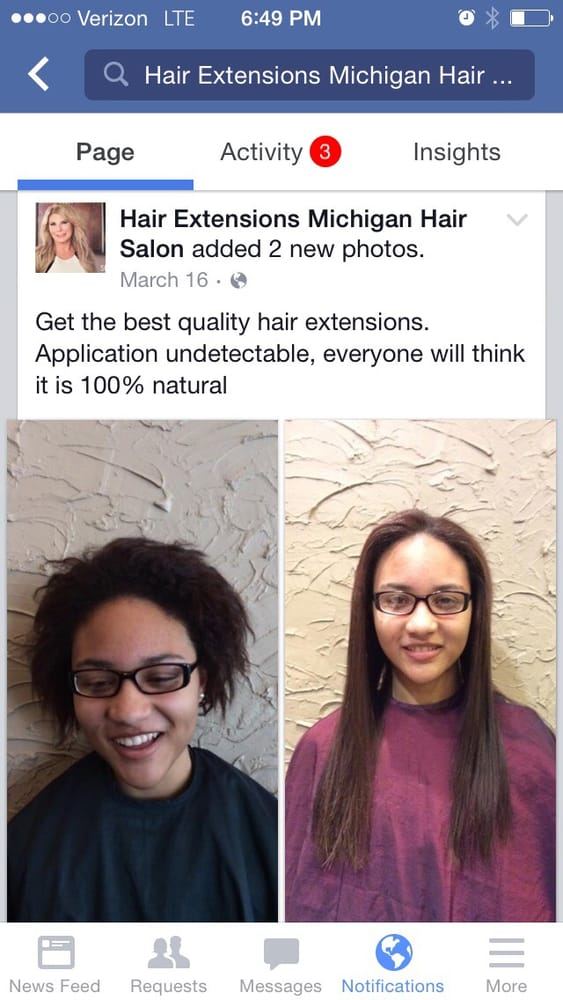 Great Lengths Hair Extensions Fusion Application Before After
