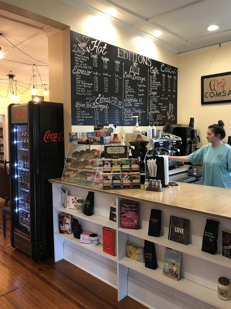 Editions Coffee Shop and Book Store: 217 S Main St, Kannapolis, NC