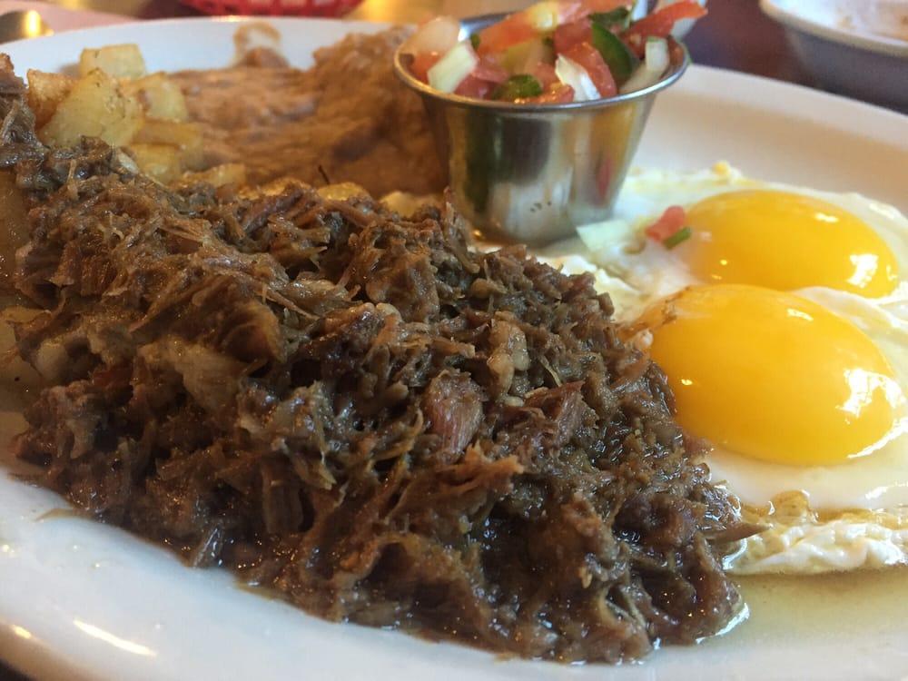 La Carreta Mexican Grill - Bryan, TX, United States. Barbacoa and eggs