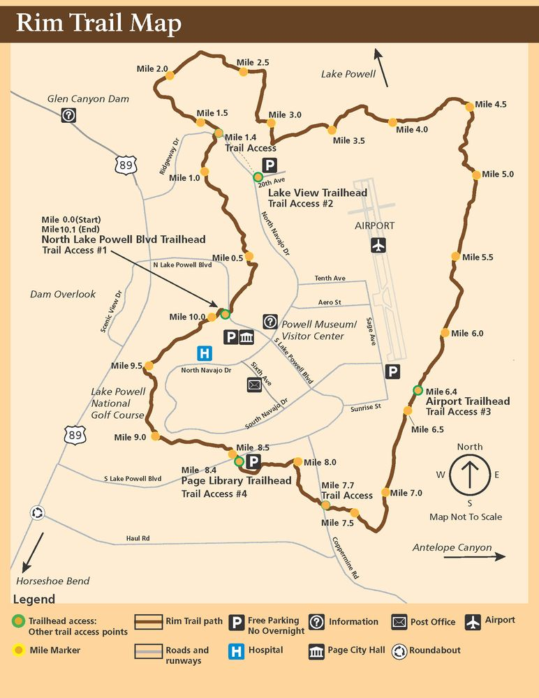 Rim Trail map - Yelp