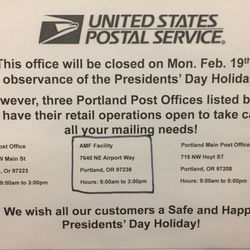 Photo Of US Post Office   Portland, OR, United States. Holiday Hours 9am