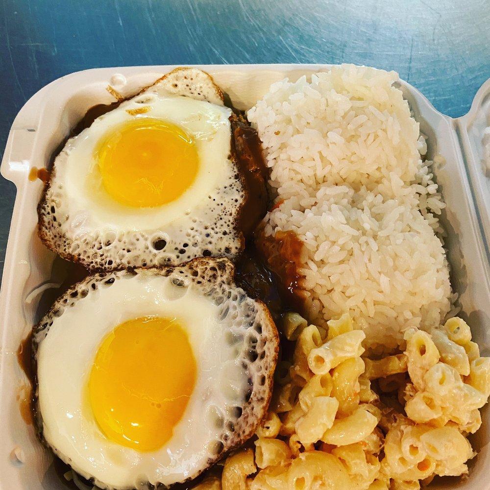 Food from Halo Hawaiian BBQ & Poke Bar
