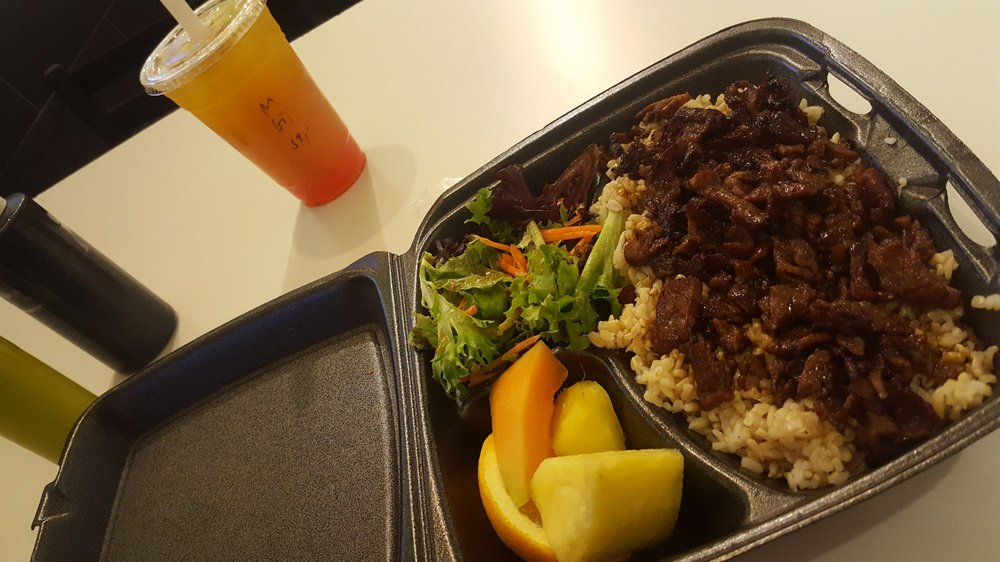 Food from Fusion Teriyaki Grille