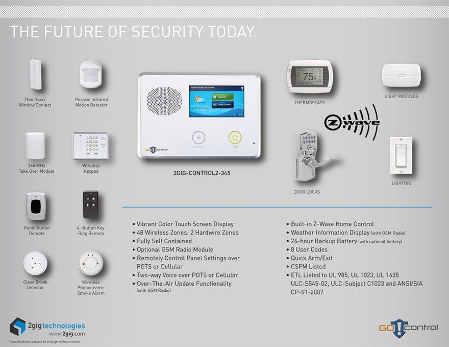 2GIG Alarm Systems: Featuring