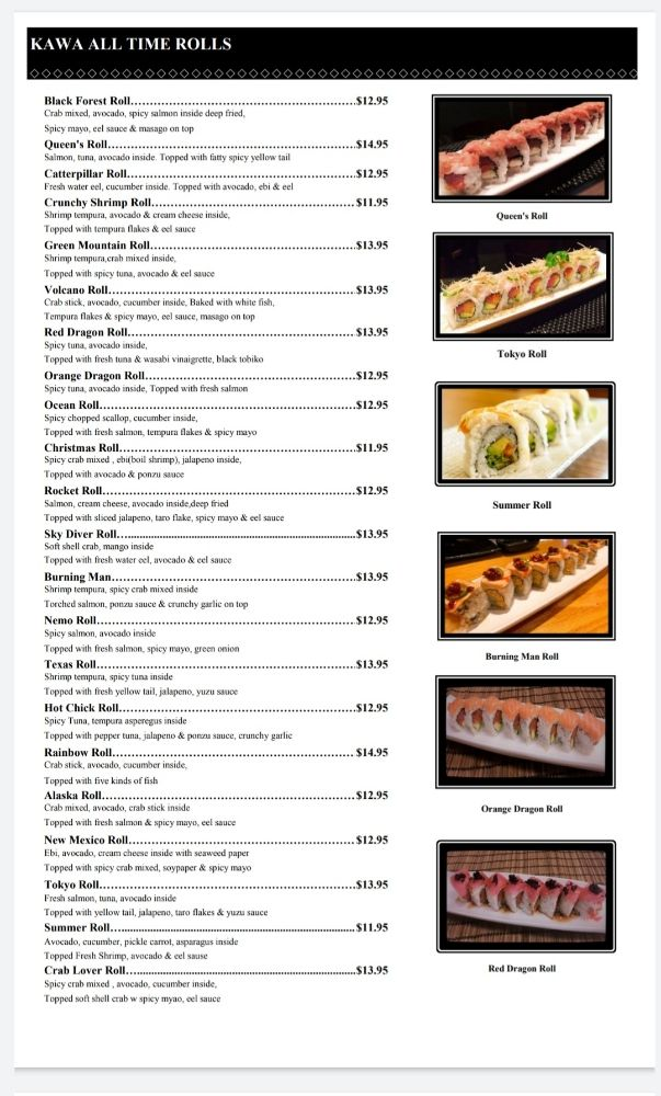 Kawa Sushi: 8050 N Sam Houston Pkwy W, Houston, TX