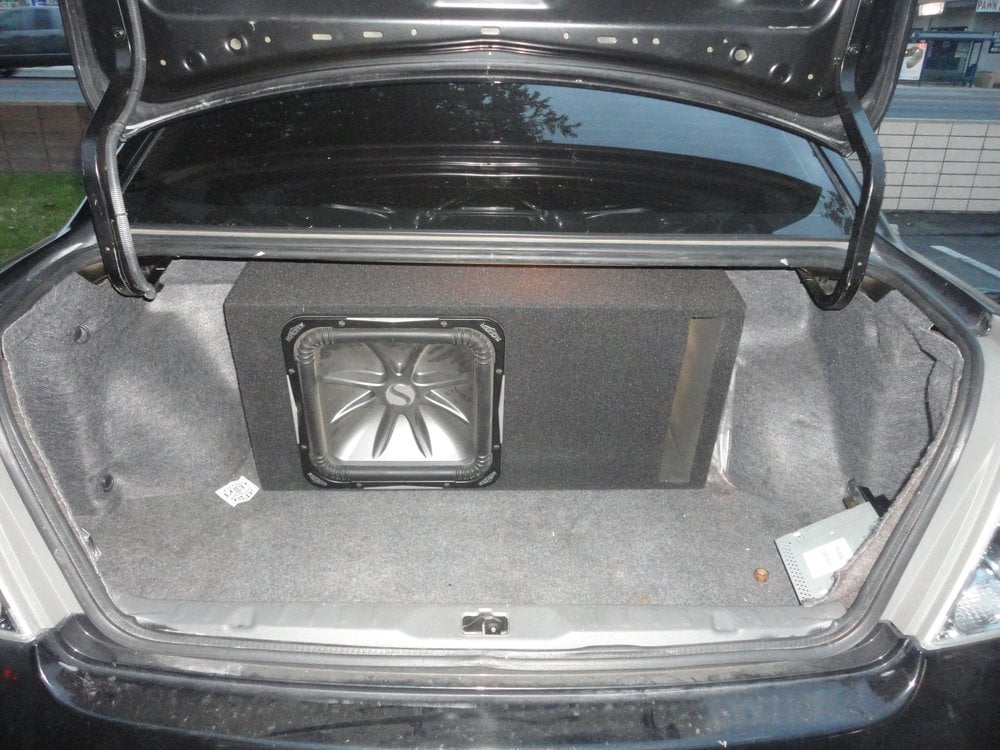 "Auto Service Near Me >> Custom Subwoofer Enclosure for a 15"" L7 on a 2004 Nissan Altima. - Yelp"