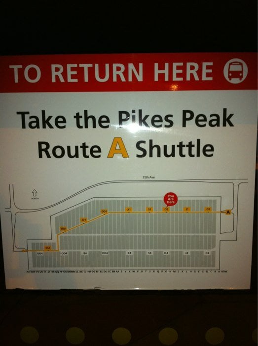 Pikes Peak Parking >> Pike S Peak Shuttle Parking 81 Reviews Parking 24300 E 75th