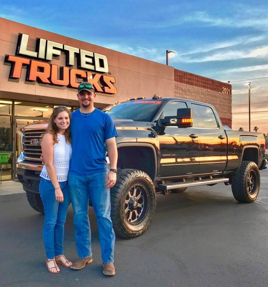 arizona diamondbacks major league pitcher zach godley with his new lifted trucks built gmc. Black Bedroom Furniture Sets. Home Design Ideas