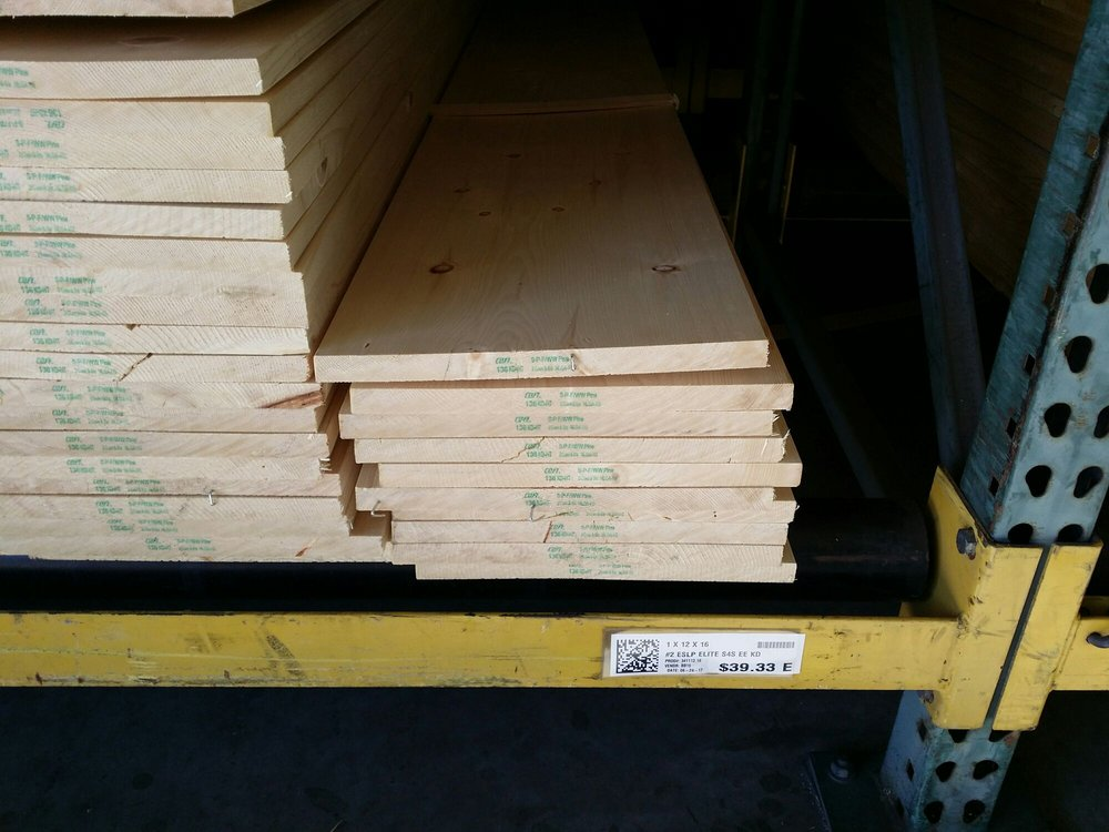 Some of the stocked one bys that we cleared out yelp for Ganahl lumber