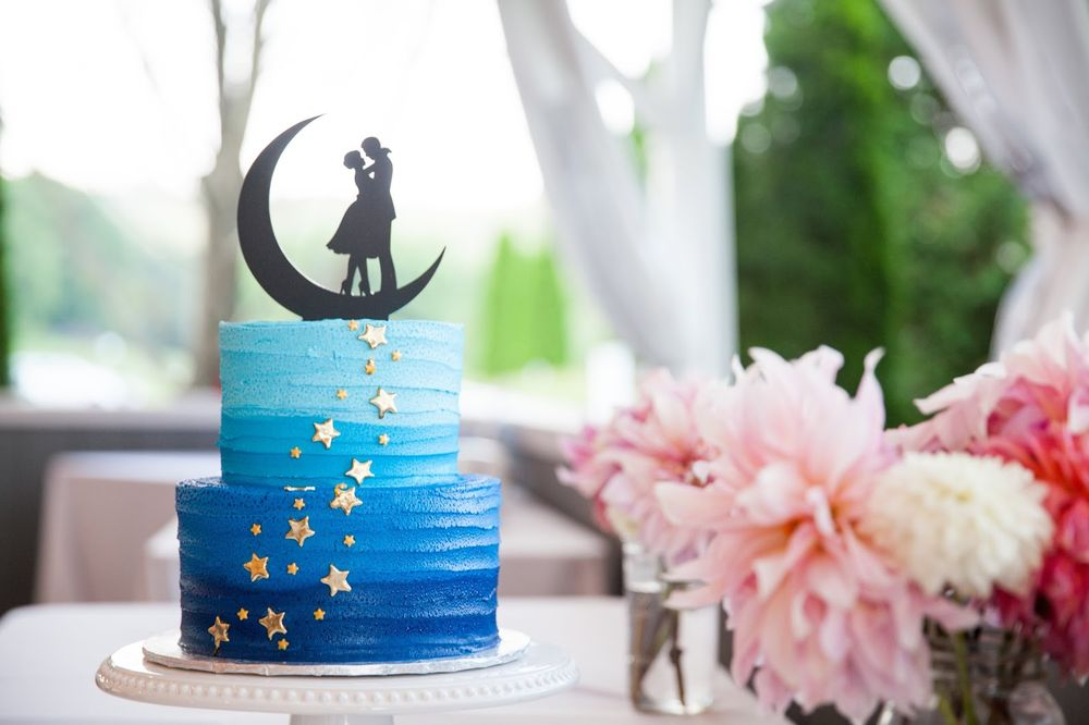 Star Cake For Our Space Themed Wedding Custom Topper Made By Me