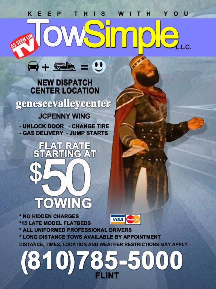 Malcolm's Tow Simple: 5496 N Saginaw St, Flint, MI