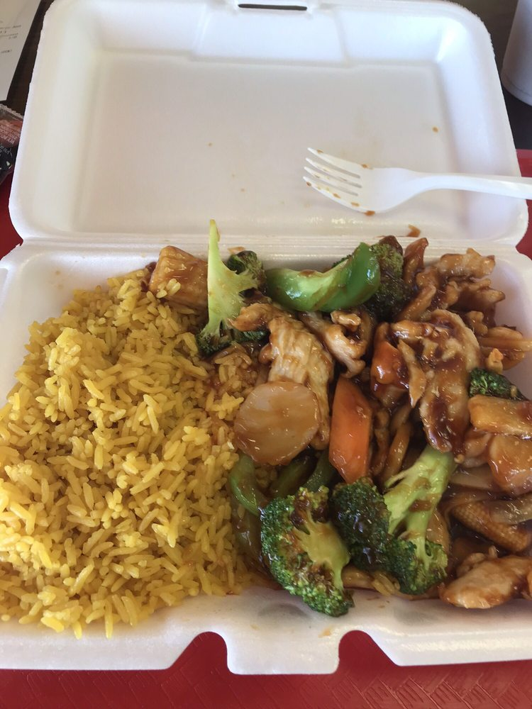 Food from Hibachi Japanese Grill Express