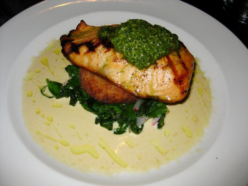 ... risotto cake, pea tendrils, parmesan cream & fava bean pesto (6.15.10