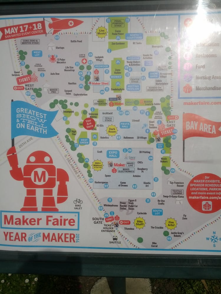 map - Yelp Maker Faire Map on roblox map, wedding map, new york map, halloween map, maker fair map,