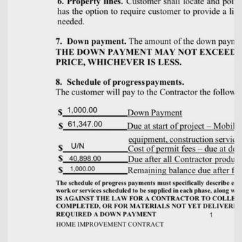 california home improvement contract