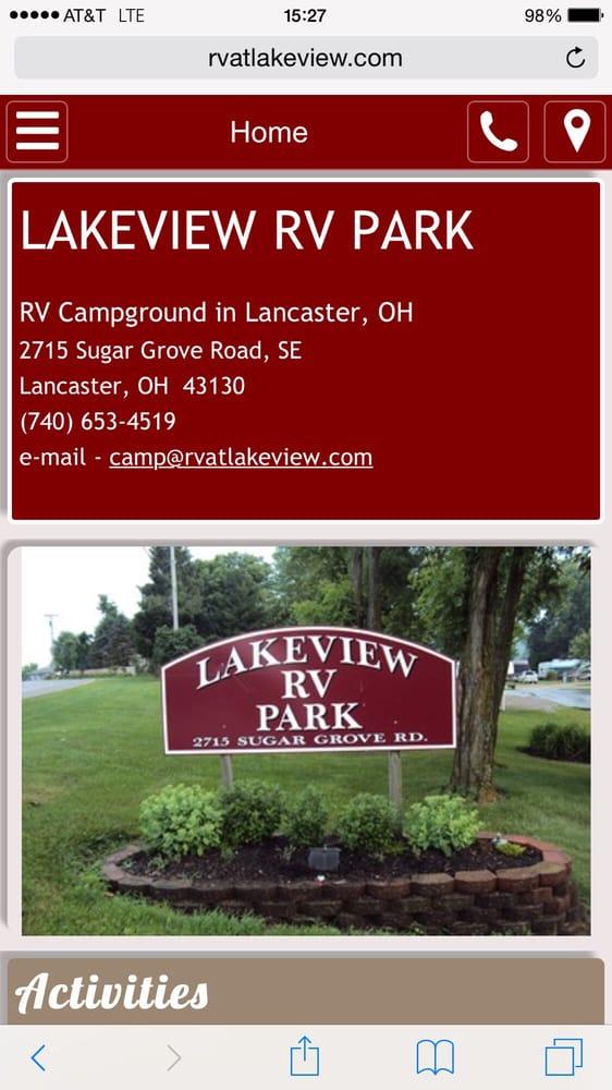 Lakeview RV Park: 2715 Sugar Grove Rd SE, Lancaster, OH