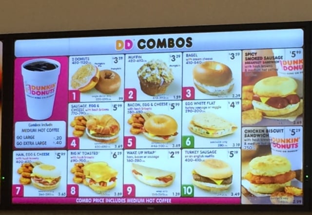Rest Of The Combo Menu As Of 9 2014 Yelp