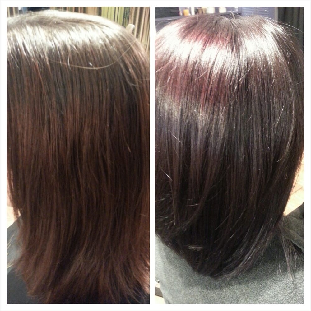 Gk Smoothing Treatment And All Nutrient Eggplant Hair Color Yelp