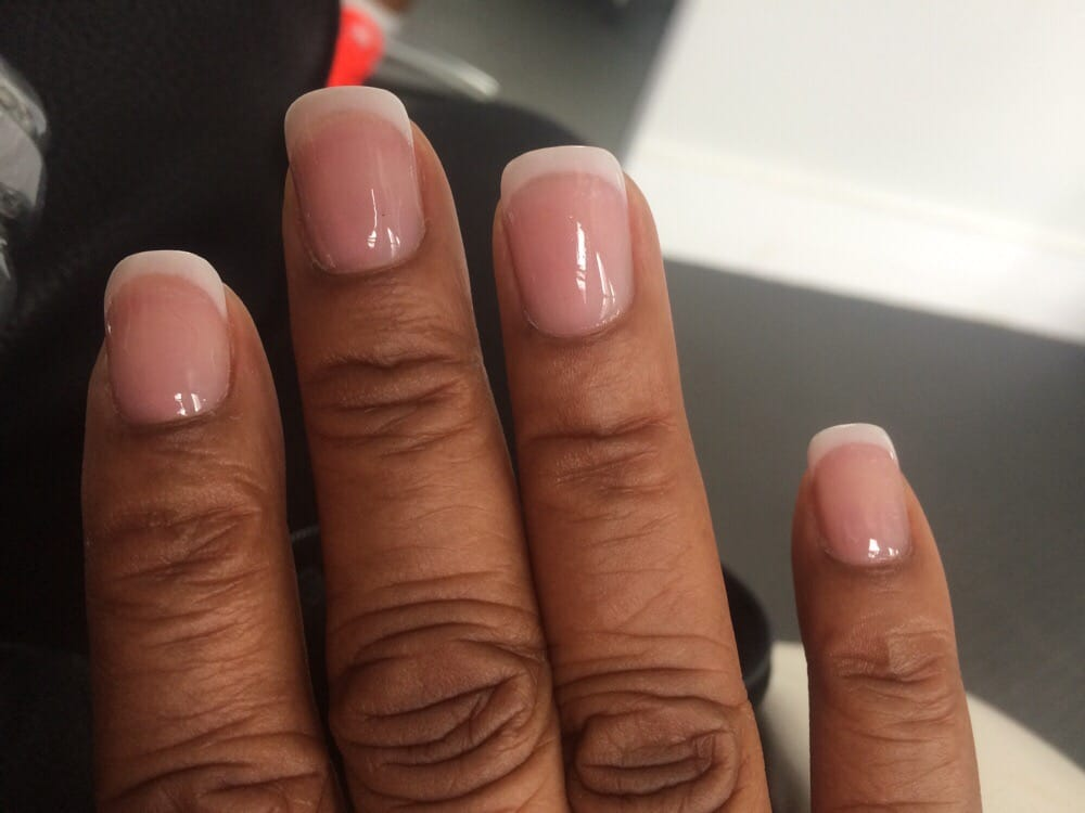 They made my natural nails grow. My French manicure with my own ...