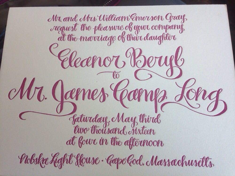Tacky sample wedding invitation - Yelp