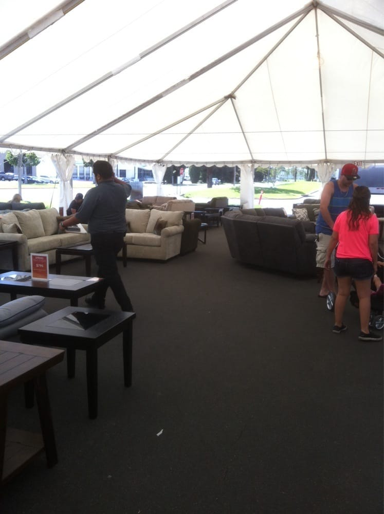 Living Spaces In La Mirada : Tent sale - Yelp