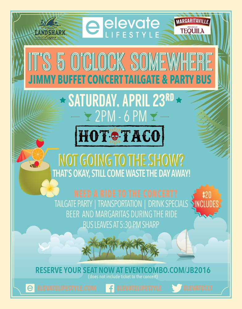 Prime Its 5 Oclock Somewhere Jimmy Buffett Concert Tailgate Interior Design Ideas Philsoteloinfo