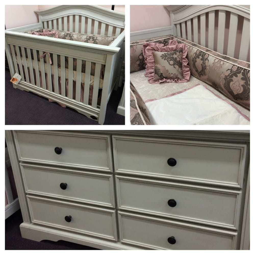 The beautiful westfield crib in grey with our exclusive for Furniture stores in burbank