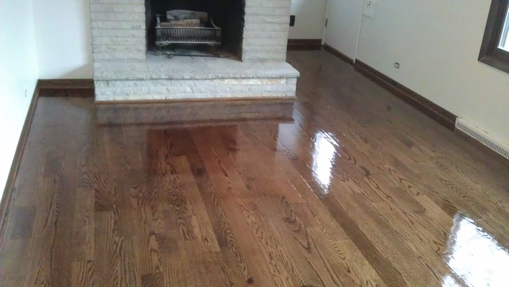 Fabulous Red Oak, English Chestnut stain - Yelp MM71
