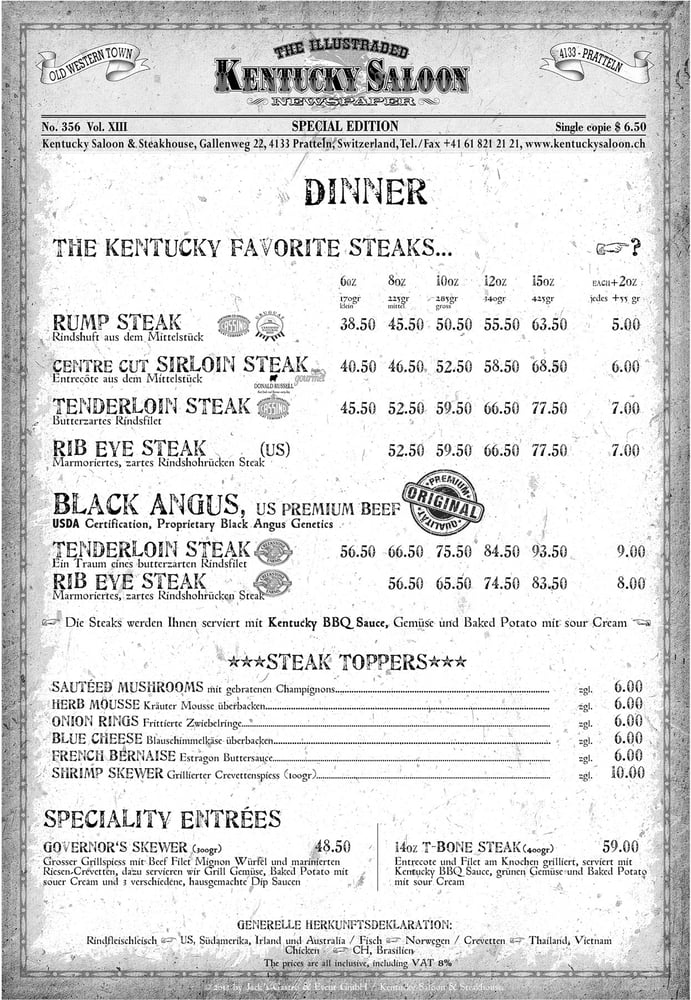 Kentucky Saloon & Steakhouse