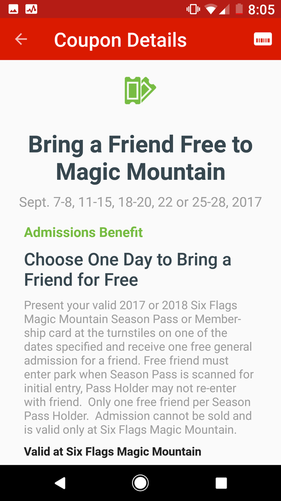 Perks of being a season pass holder is you can bring a