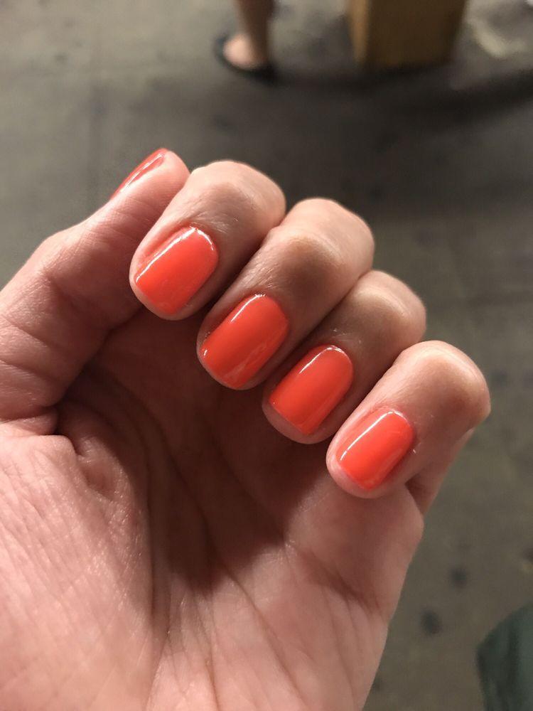 Neon orange nails for summer (G5) - Yelp