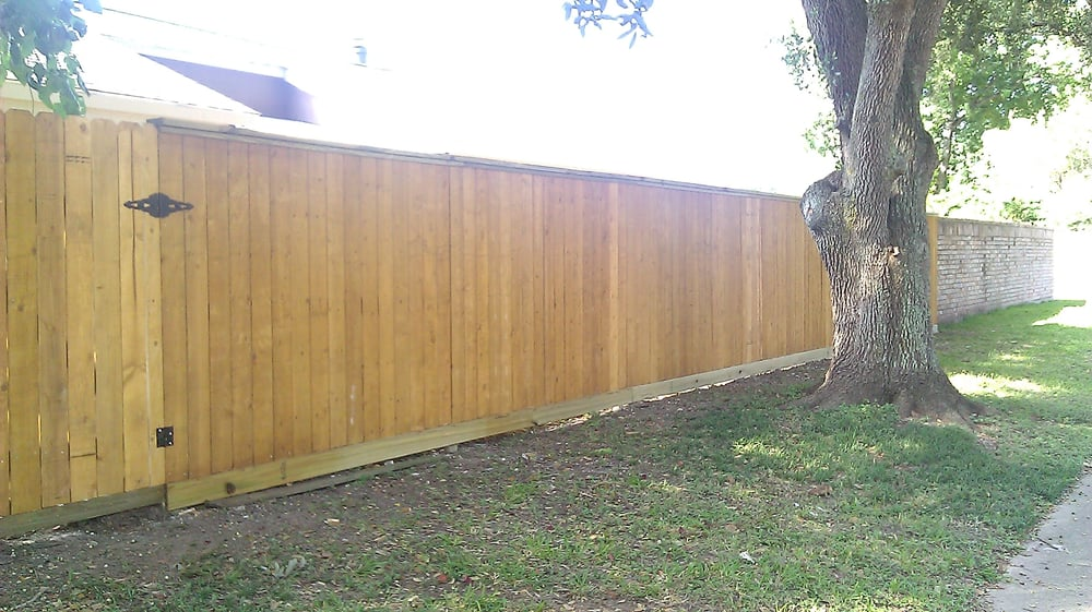 Replaced Fallen Brick Fence With 6ft Cedar Fence W Rot