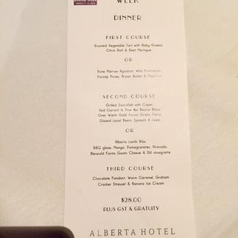 Alberta Hotel Bar And Kitchen Menu