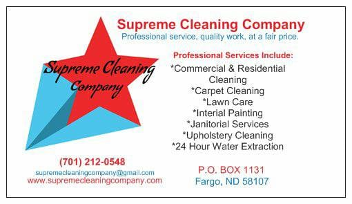 Supreme Cleaning Company: 1001 23rd St S, Fargo, ND