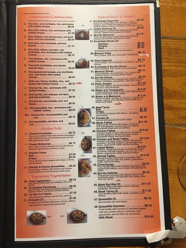 El Jimador Mexican Restaurant: 103 Valley Plaza Shopping Ctr, Lanett, AL