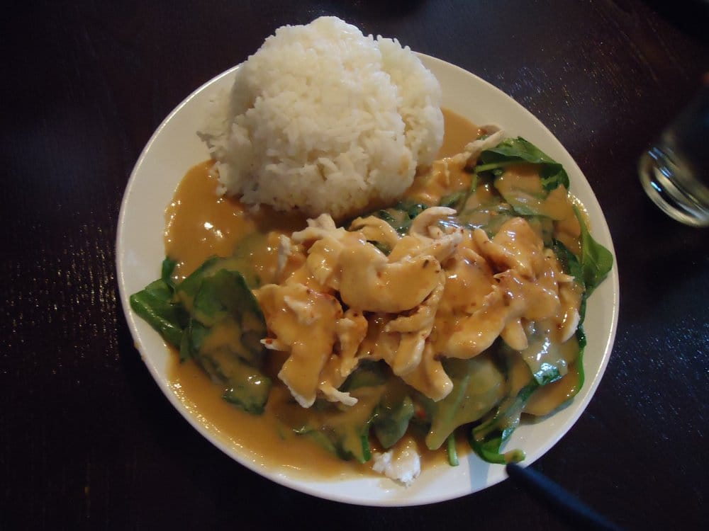 Swimming angel peanut sauce chicken yelp for Angels thai cuisine