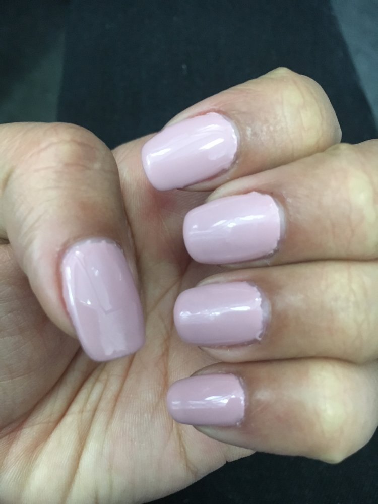 Bad gel manicure, the old guy with glasses does NOT know how to do a ...